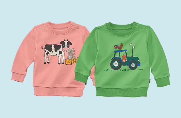 Baby-Sweatshirt Bauernhof