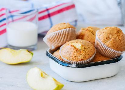 Backen mit Kindern: Muffins mit Äpfeln