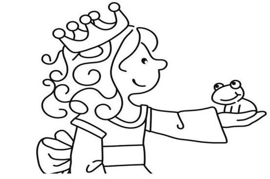 JAKO-O Ausmalbild Prinzessin