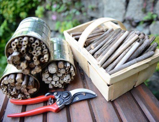Insektenhotel bauen: Werkzeuge