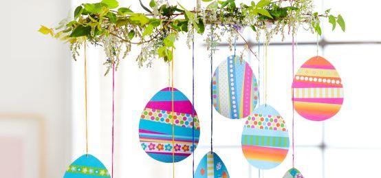 Osterdeko basteln mit Kindern: Schnippel-Eier