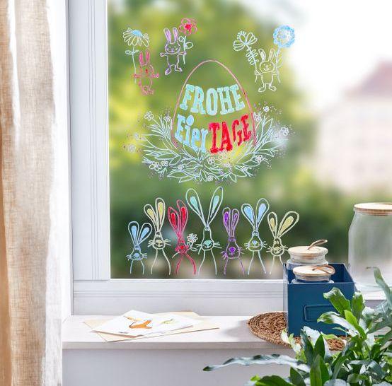 Ostern mit Kindern: Fensterbild