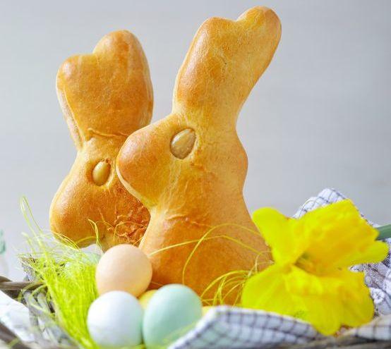 Ostern mit Kindern: Hefeteighasen
