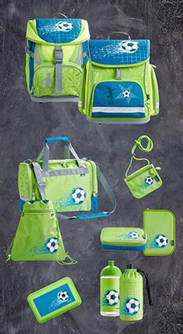 JAKO-O Schulranzen-Set mit Fußball-Motiv