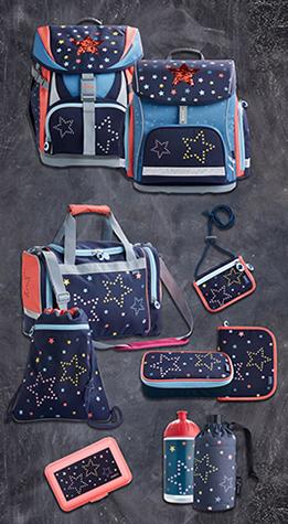 JAKO-O Schulranzen-Set mit Sterne-Motiv