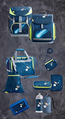 JAKO-O Schulranzen-Set mit Weltraum-Motiv