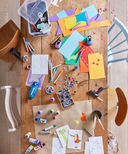 Basteln mit Kindern: Materialien