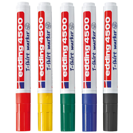 edding® Textilmarker, 5 Basic-Farben
