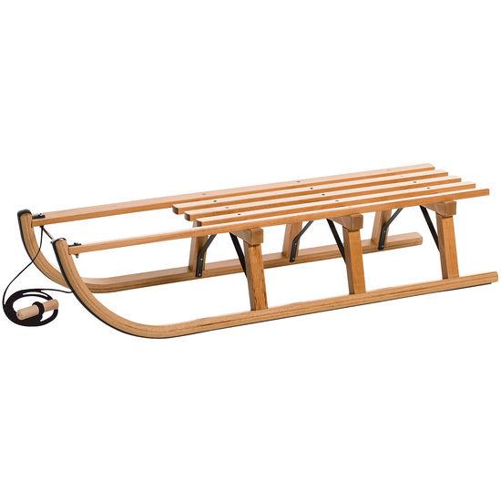 Holzschlitten L 110 cm + Zugschnur