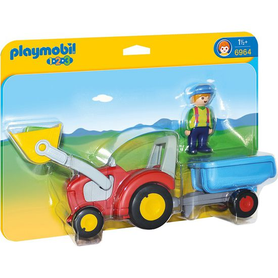 PLAYMOBIL® 1.2.3 6964 Traktor mit Anhänger