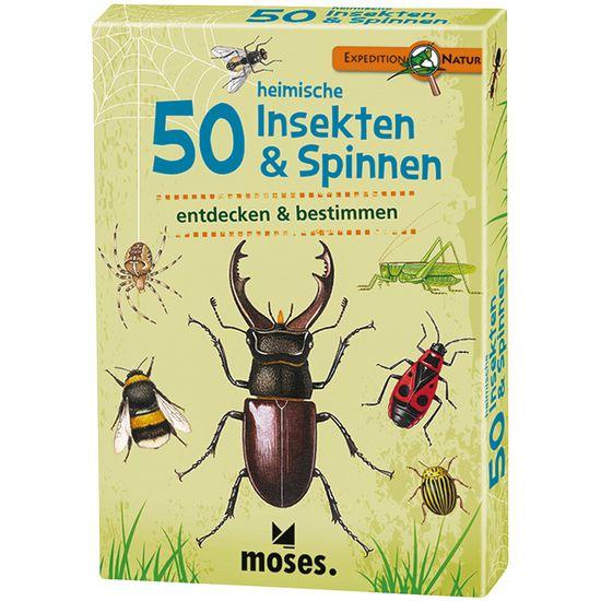 moses 50 heimische insekten  spinnen entdecken