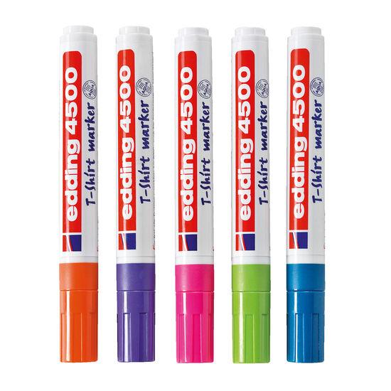 edding® 4500 Textilmarker, 5 Trend-Farben