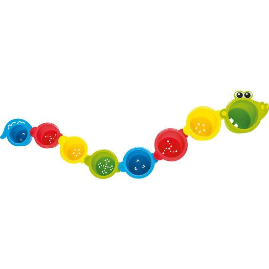 Rotho Babydesign Badespielzeug Stapelbecher Krokodil