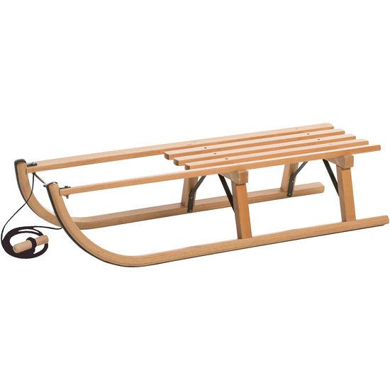Holzschlitten L 90 cm + Zugschnur