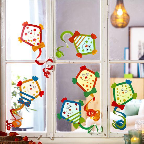 Sachenmacher Fensterbilder Drachen JAKO-O, Bastelset für 6 Stück