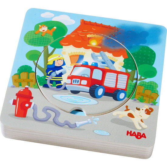 Holzpuzzle Feuerwehr-Einsatz HABA 303252