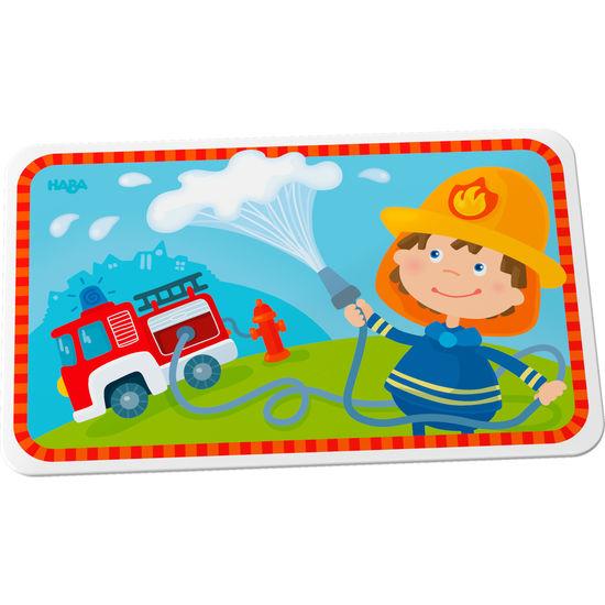 Kinder Melamin Brettchen Feuerwehr HABA 303691