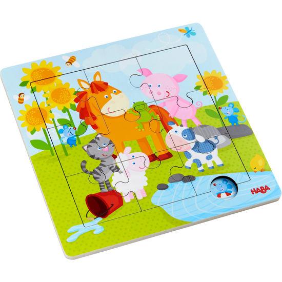 Holzrahmen-Puzzle Tierfreunde HABA 303767