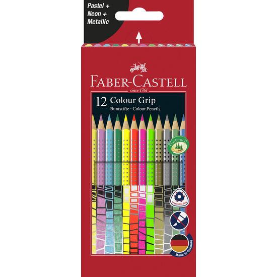 Faber-Castell Buntstifte Colour GRIP, 12 Effekt-Farben