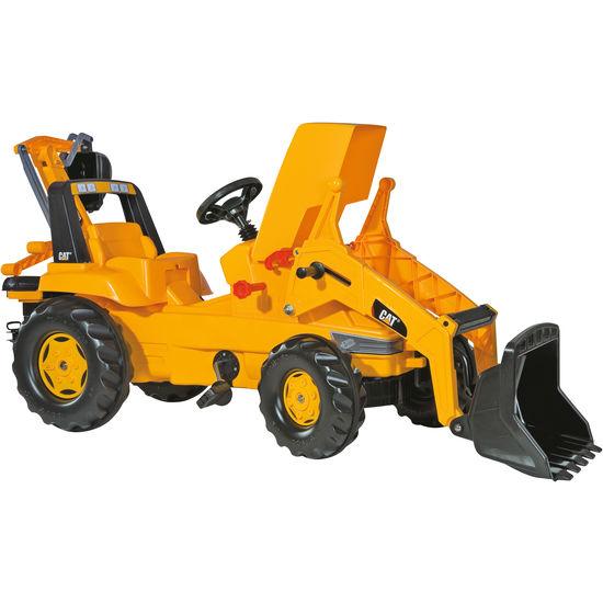 rolly<sup>®</sup> toys Trettraktor rollyJunior CAT 813001, mit Lader und Heckbagger