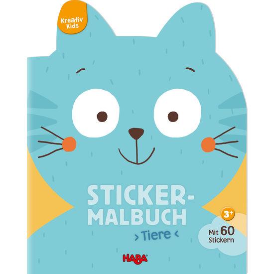 Kreativ Kids – Sticker-Malbuch Tiere HABA 304435