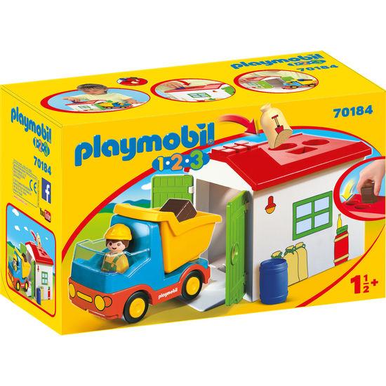 PLAYMOBIL® 1.2.3 70184 LKW mit Sortiergarage