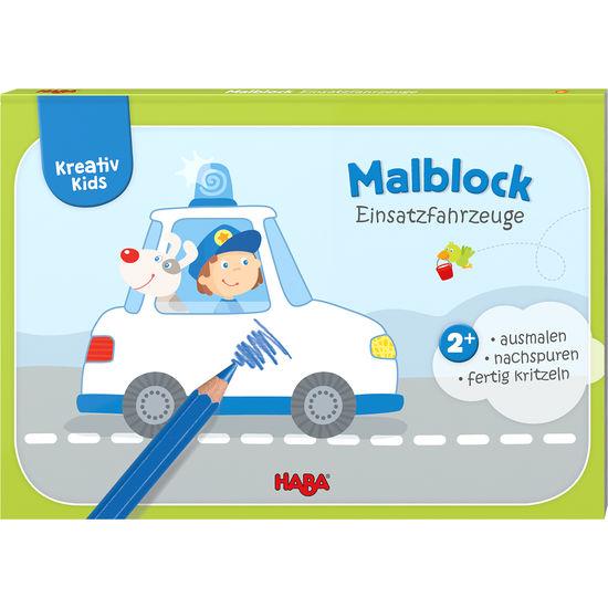 Kreativ Kids - Malblock Einsatzfahrzeuge HABA 304438