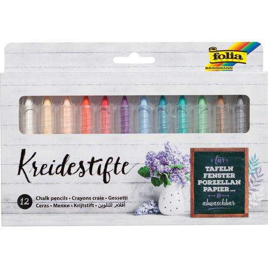 folia® Kreidestifte, 12 Farben