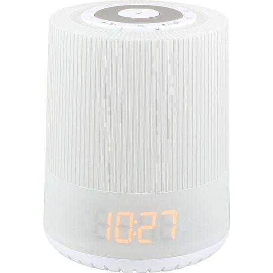 soundmaster® UR230WE UKW-PLL Uhrenradio mit farbigen LED Nachtlicht
