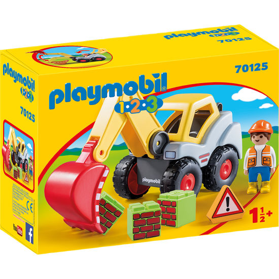 PLAYMOBIL® 1.2.3 70125 Schaufelbagger