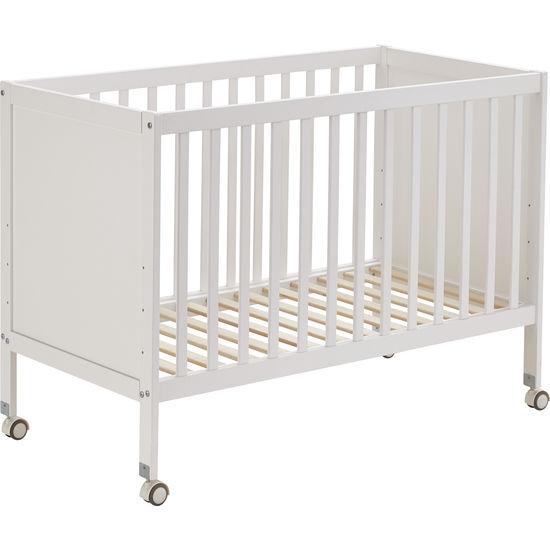 Baby- und Kleinkind-Gitterbett, weiß