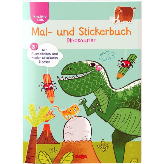 Kreativ Kids – Mal- und Stickerbuch Dinos HABA 305451