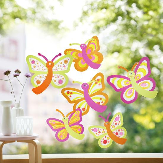 Sachenmacher Fensterbilder Schmetterlinge JAKO-O, Bastelset für 6 Stück