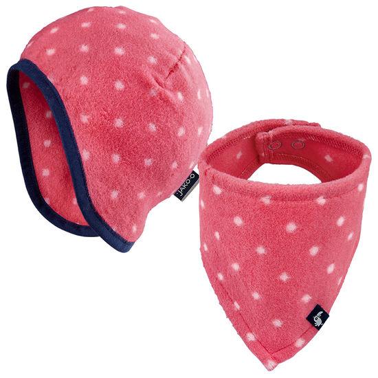 Baby Erstlings-Set Mütze und Halstuch JAKO-O, Baumwollfleece