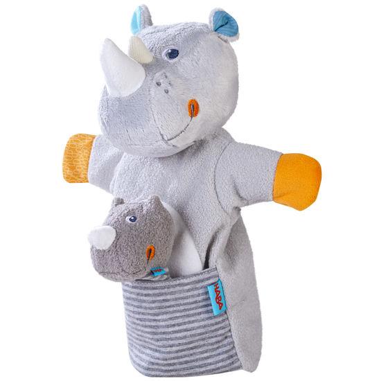 Handpuppe Nashorn mit Baby HABA 305755