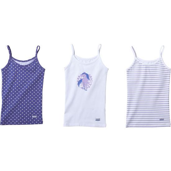 Mädchen Trägertop Unterhemd JAKO-O, 3er-Pack