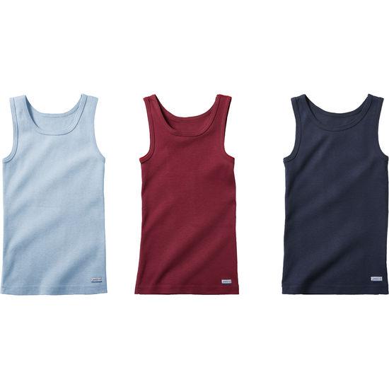 Kinder Unterhemd Baumwolle JAKO-O, 3er-Pack, extra lang