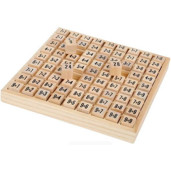 Einmaleins-Rechenkasten, Holz