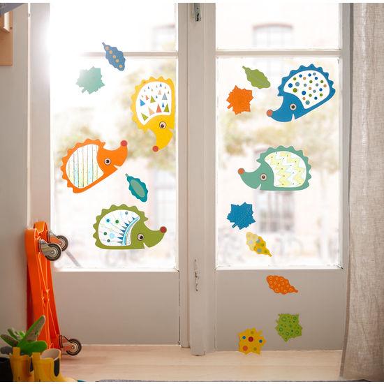 Sachenmacher Fensterigel JAKO-O, Bastelset für 5 Igel und 20 Blätter