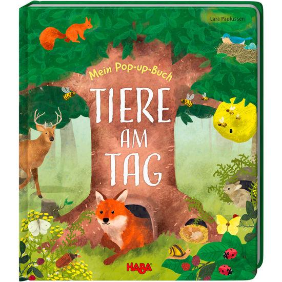 Mein Pop-up-Buch Tiere am Tag HABA 305835