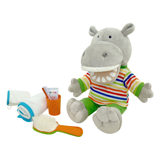 Kinder Plüsch-Spieltier Ab-ins-Bett-Hippo JAKO-O