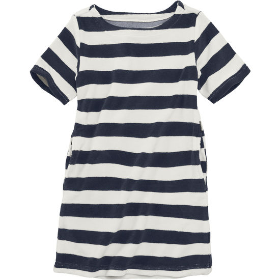 Frotteekleid Mädchen Kinder JAKO-O marine geringelt