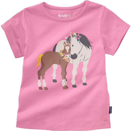 T-Shirt für Kinder mit Pferdemotiv Jersey JAKO-O
