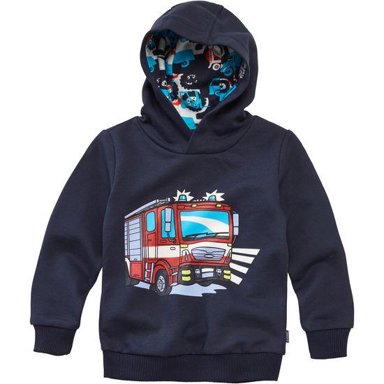 Kinder Sweatshirt Kapuzenshirt JAKO-O Bagger Feuerwehrauto