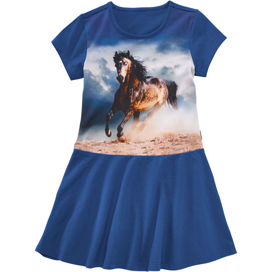 Kleid Pferde-Motiv Jersey JAKO-O
