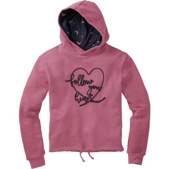 Kapuzensweatshirt kurz Mädchen FIT-Z