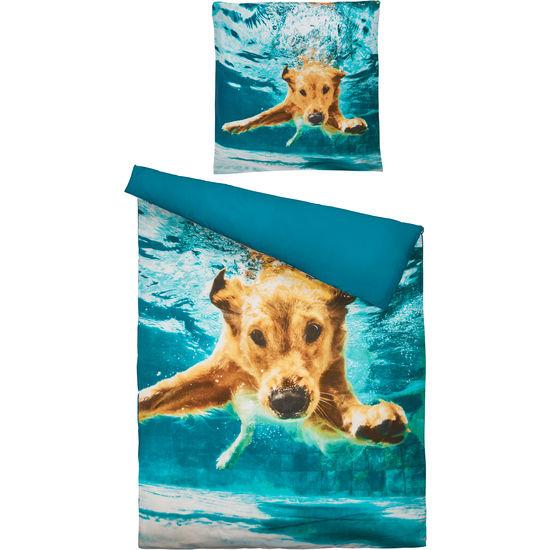 Renforcé Bettwäsche Hund mit Reißverschluss, 135 x 200 cm
