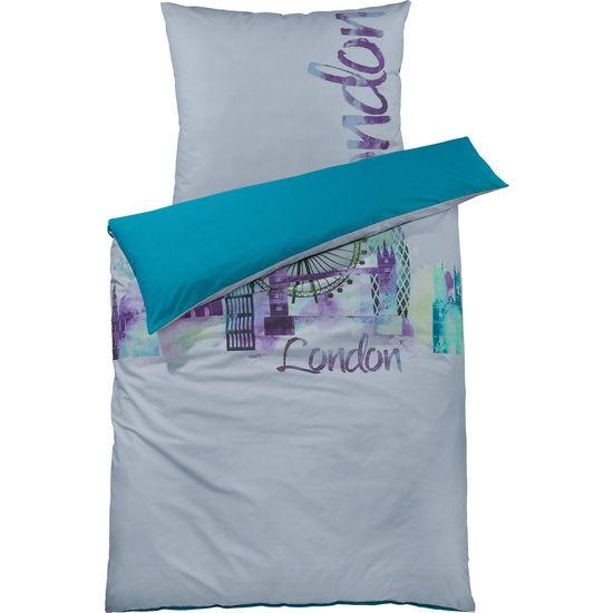 Renforcé Bettwäsche London mit Reißverschluss FIT-Z, 135 x 200 cm