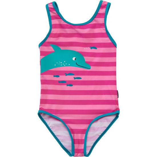 Mädchen Badeanzug JAKO-O, geringelt mit Motiv