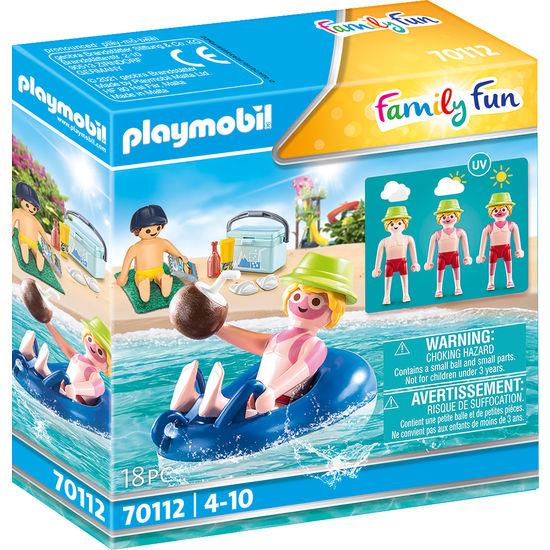 PLAYMOBIL® Family Fun 70112 Badegast mit Schwimmreifen